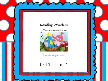Preview Unit 1 Lesson 1 Reading Wonders 2nd Grade