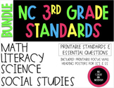 2018-19 3rd Grade NC Standards & Essential Questions ELA, Math, Science, SS