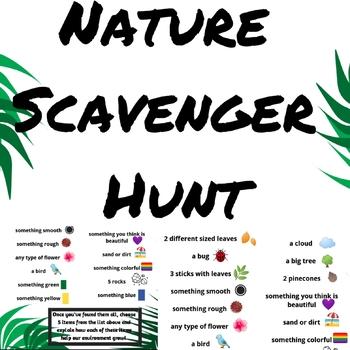 Education Fun Guides Nature Scavenger Hunt