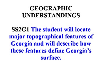 Preview of GEORGIA 2nd Grade Standards: 1 per page