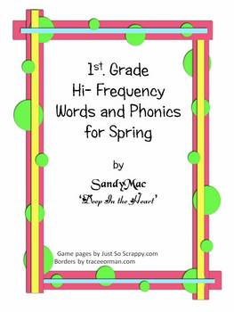Preview of Hi Frequency and Phonics for Spring
