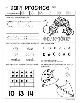 Preview of Morning Work by Grade One Snapshots