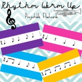 Preview of Rhythm Warm Up Flashcards