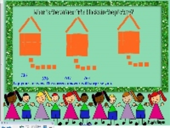 Place value practice with disorgnized pictures-SmartBoard