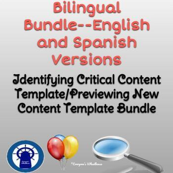Previewing New Content/Identifying Critical Content Templates Bilingual Bundle