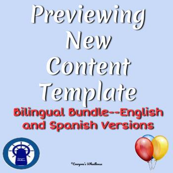 Previewing New Content Template for All Lessons Bilingual Bundle