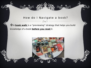 Previewing Text Strategy through a Book Walk - Powerpoint Presentation
