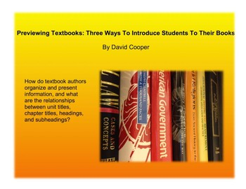 Previewing Textbooks: Three Ways To Introduce Students To Their Books