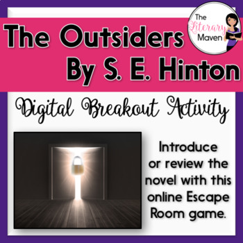 Previewing The Outsiders by S. E. Hinton Digital Breakout