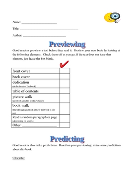 Previewing and Predicting with a New Text