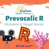Prevocalic R Elicitation & Target Words BOOM Card™