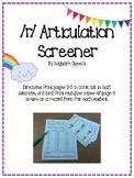 Prevocalic and Vocalic R Articulation Screener