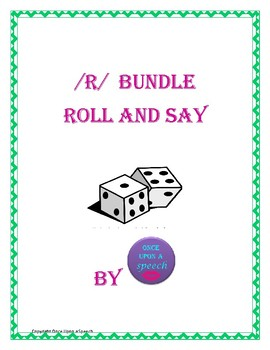 Prevocalic and Vocalic /r/ Roll and Say Bundle