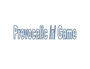 Prevocalic /r/ matching game