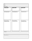 Prewrite character trait, evidence, main idea and theme orgainizer