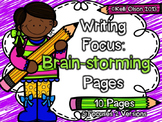 Prewriting Brainstorming Pages