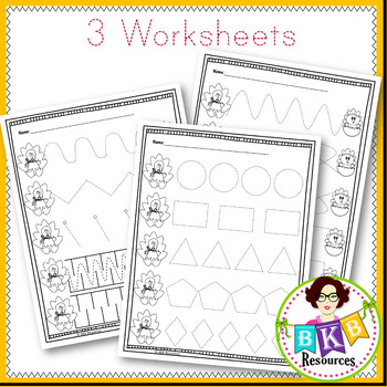 Prewriting Cards● Tracing Cards ● Write On ● Fine Motor Skills● Worksheets