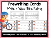 Prewriting Cards - Write & Wipe: Bike Riding