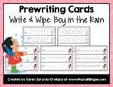 Prewriting Cards - Write & Wipe: Boy in Rain