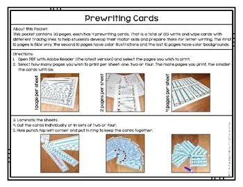 Prewriting Cards - Write & Wipe: Boy in the Rain