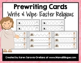 Prewriting Cards - Write & Wipe: Easter Religious