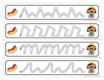 Prewriting Cards - Write & Wipe: Eating Hot Dogs