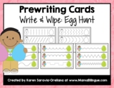Prewriting Cards - Write & Wipe: Egg Hunt
