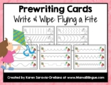 Prewriting Cards - Write & Wipe: Flying a Kite