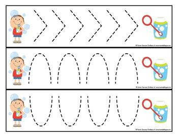 Prewriting Cards - Write & Wipe: Fun with Bubbles