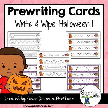 Prewriting Cards - Write & Wipe: Halloween 1