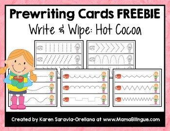 "Prewriting Cards - Write & Wipe: ""Hot Cocoa"" Freebie 3"