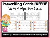 Prewriting Cards FREEBIE - Hot Cocoa Write & Wipe Cards