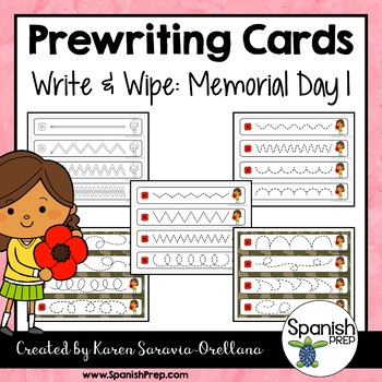 Prewriting Cards - Write & Wipe: Memorial Day 1
