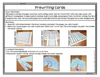 Prewriting Cards - Write & Wipe: Passover 1