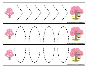 Prewriting Cards - Write & Wipe: Tree Fun