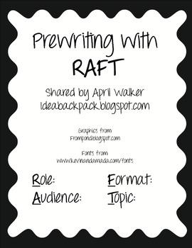 Prewriting Graphic Organizer using RAFT - Free