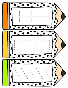 Prewriting Pencil Write and Wipe Cards