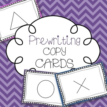 Prewriting Copy Cards + ideas for use