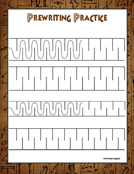 Prewriting Practice Sheet