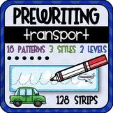 Prewriting Practice Strips (Transport theme)