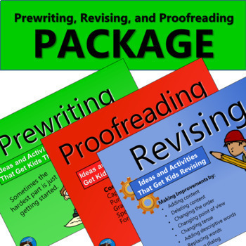 Prewriting, Revising, and Proofreading Package
