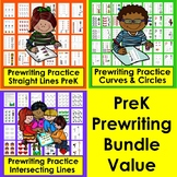 Prewriting Worksheets Bundle Value for Preschool Prewriting Tracing