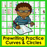 Prewriting Worksheets:  Curves & Circles: Prewriting Tracing for Preschool