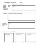Prewriting Template (5 paragraphs)