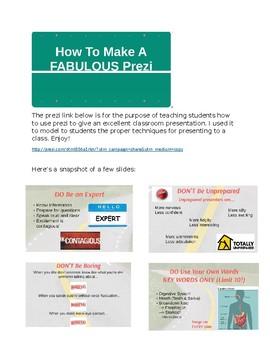 Prezi: How to Make a Fabulous Prezi