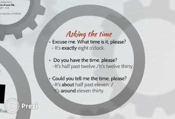 Prezi: How to tell the time in English