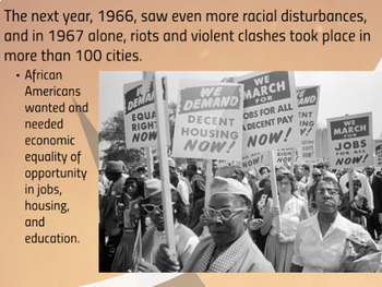 "Prezi Presentation - ""Civil Rights Movement: Part 2"" w/Guided Notes Worksheet"
