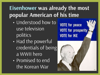 """Prezi Presentation - """"Eisenhower and the Arms Race"""" w/Guided Notes Worksheet"""