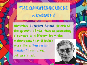 "Prezi Presentation - ""The Counterculture Movement"" w/Guided Notes Worksheet"