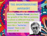 """Prezi Presentation - """"The Counterculture Movement"""" w/Guide"""